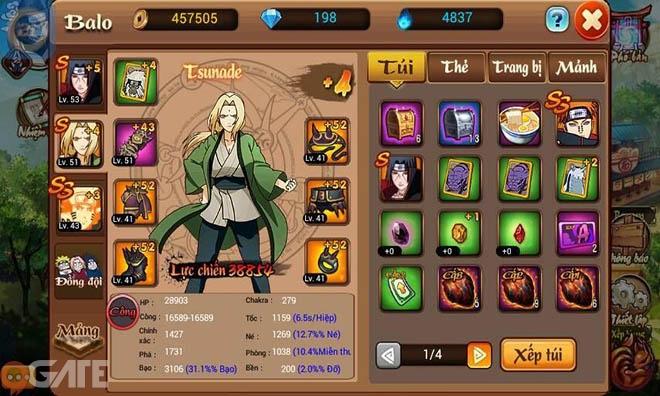 Hokage Mobile: Tìm hiểu hệ thống thẻ ninja