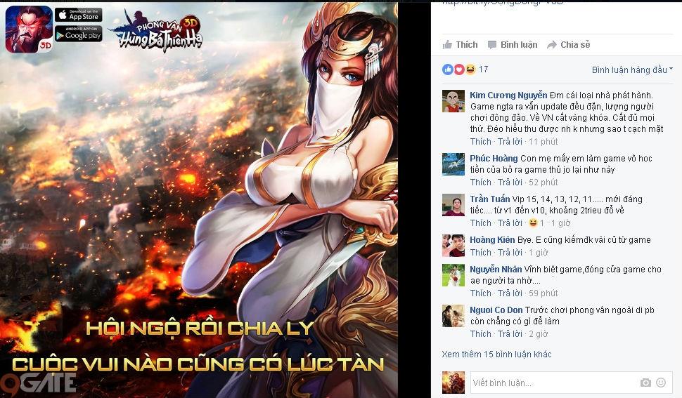 Điểm Tin Tối 9/1: Phong Vân 3D nói lời chia tay trong sự ghét bỏ của game thủ