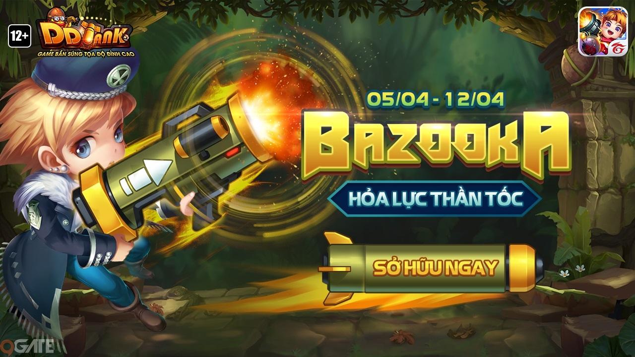 DDTank Garena: Bí quyết sử dụng siêu vũ khí Bazooka – Hỏa lực thần tốc - ảnh 1