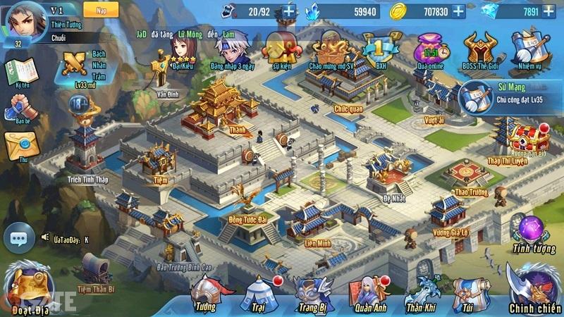 Đế Vương Bá Nghiệp Mobile: Hệ thống thần khí