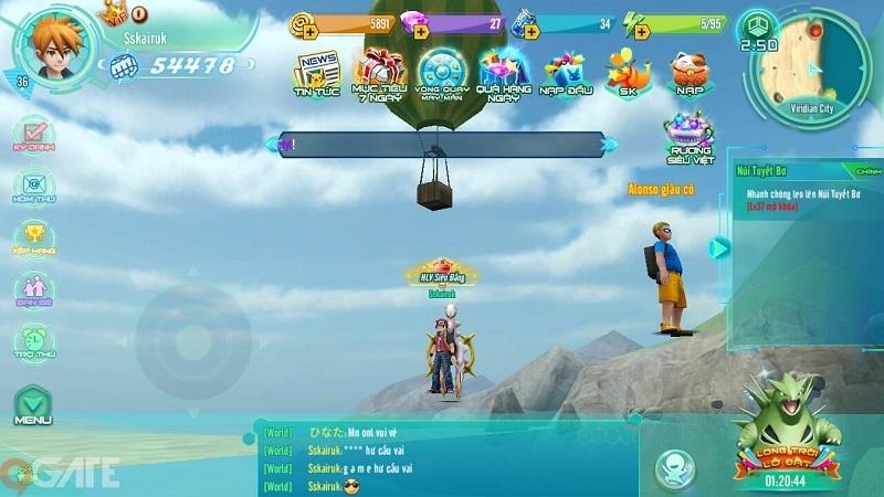 Làng Quái Thú Mobile: Tiến hóa Pokemon