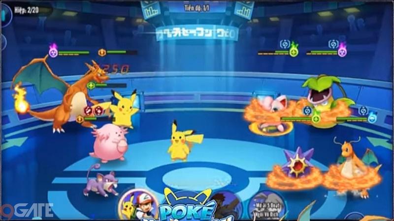 Trận đấu giữa Charizard (Satoshi) và Dragonite (Iris)