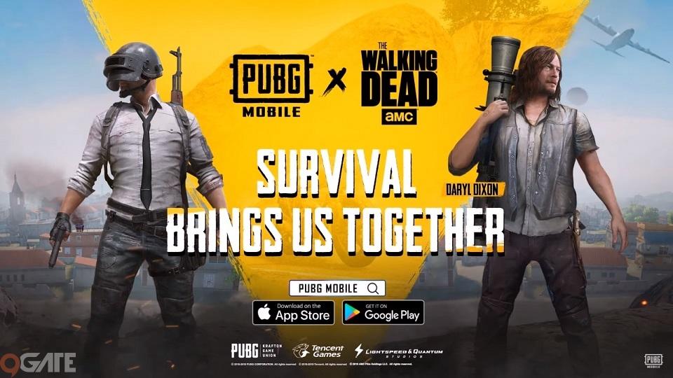 PUBG Mobile đưa nhân vật của The Walking Dead vào game