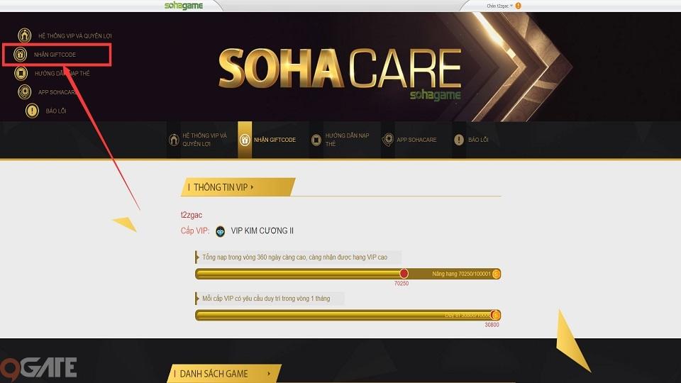 Giang Sơn Mỹ Nhân: Hướng dẫn cách nhận Giftcode trên app SohaCare