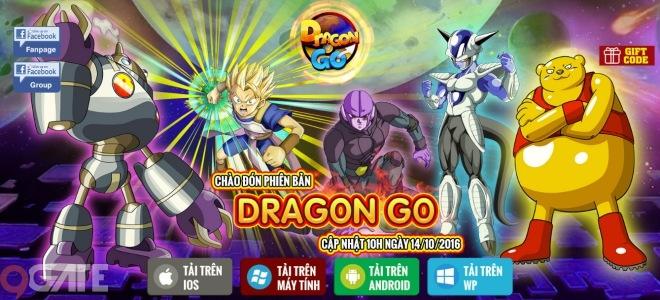 Ngọc Rồng Đại Chiến tặng Giftcode mừng phiên bản Dragon Go