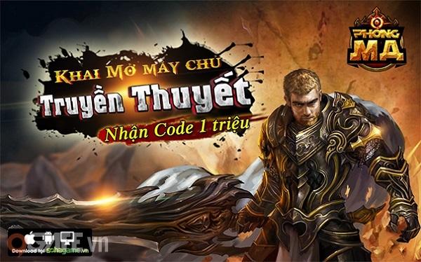 Hôm nay, Phong Ma chính thức ra mắt máy chủ Truyền Thuyết. Nhân sự kiện  này, 9Gate xin gửi tặng game thủ bộ Giftcode Phúc Lợi chứa:1 vạn tinh thạch  x100, ...