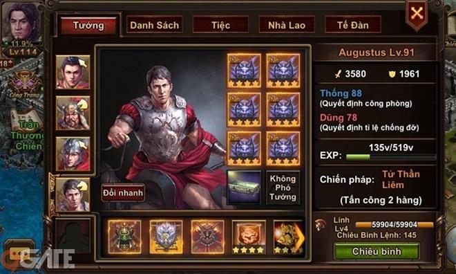 Thiên Tướng Mobile: Hệ thống chiêu thức và tướng