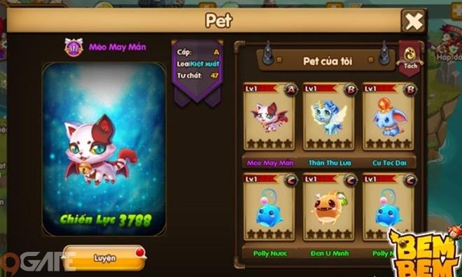 Bem Bem Go: Hệ thống Pet