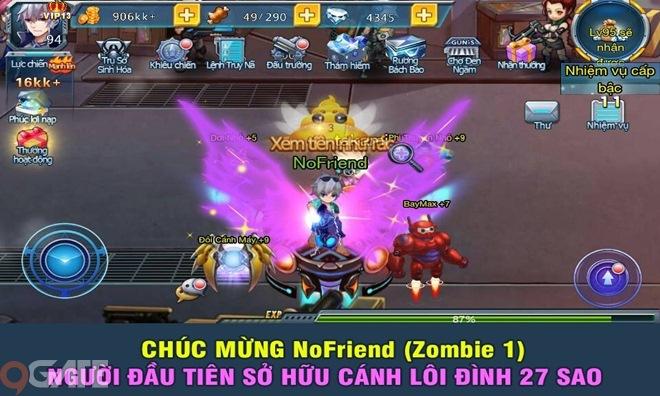 Điểm Tin Chiều 16/7: Zombie War có người chơi đầu tiên sở hữu cánh Lôi Đình 27
