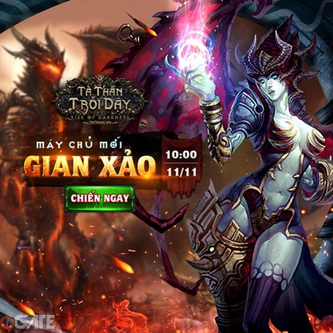 Tà Thần Trỗi Dậy tặng 200 giftcode đặc biệt mừng ra mắt máy chủ Gian Xảo