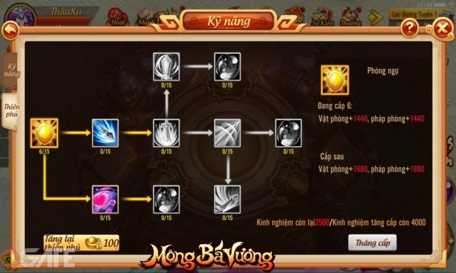 Mộng Bá Vương 3D: Update phiên bản Thiên Phú Bá Vương