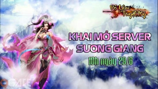 Võ Lâm Tuyệt Kỹ tặng game thủ 500 GiftCode nhân dịp ra mắt máy chủ Sương Giang
