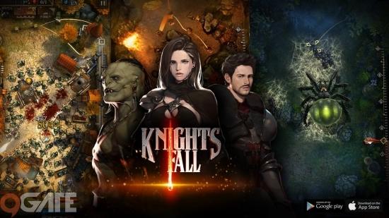 Knights Fall chính thức ra mắt, game thủ Việt hào hứng đua top cùng thế giới