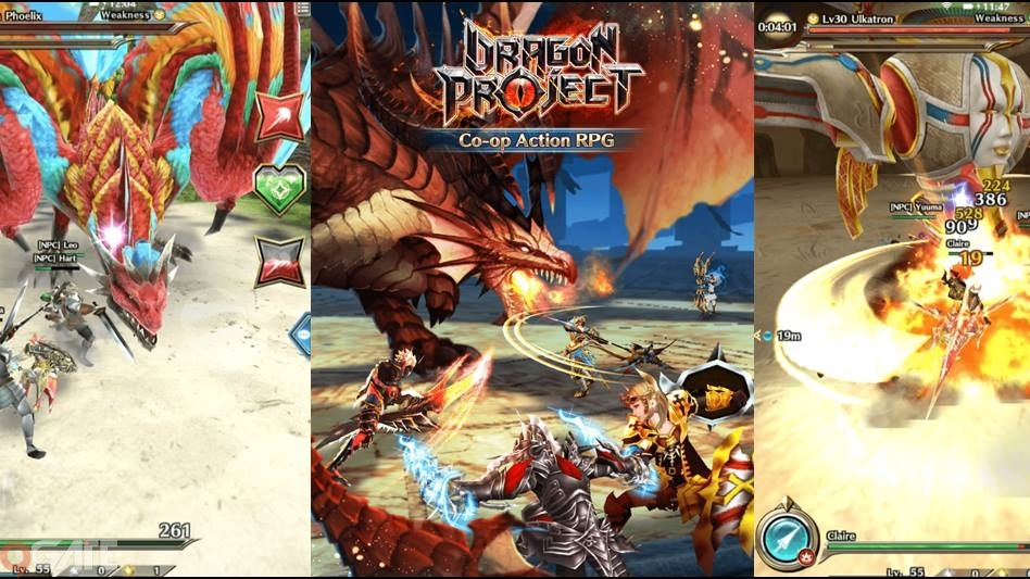 Dragon Project cho phép người chơi tự do hoán đổi vũ khí khi giao chiến