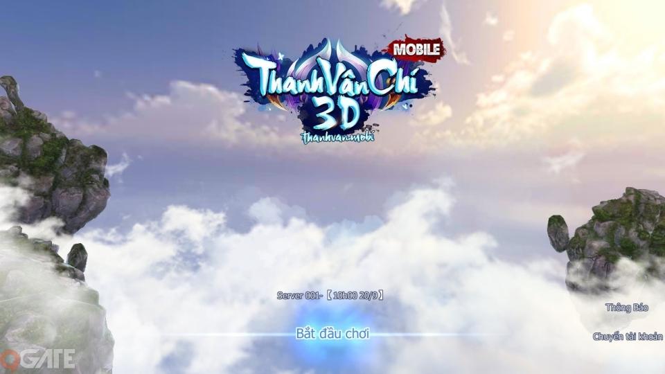 Thanh Vân Chí 3D Mobile mở Alpha Test vào 10h ngày hôm nay 20/9