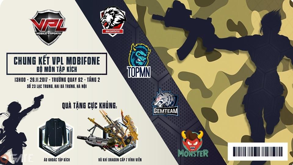 Chung kết VPL MobiFone bộ môn Tập Kích sẽ chính thức diễn ra vào cuối tuần này