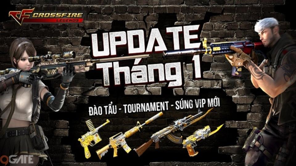 Crossfire Legends - Thi đấu online, chế độ Đào Tẩu, vũ khí VIP đổ bộ tháng 1 này