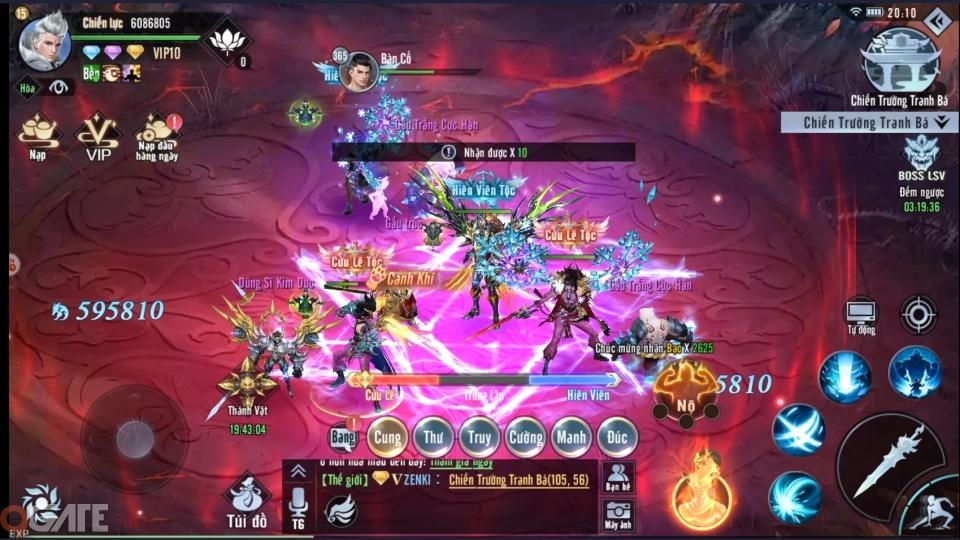 Tinh Vân Kiếm cho phép người chơi tự do xuyên server đến 80% hoạt động trong game