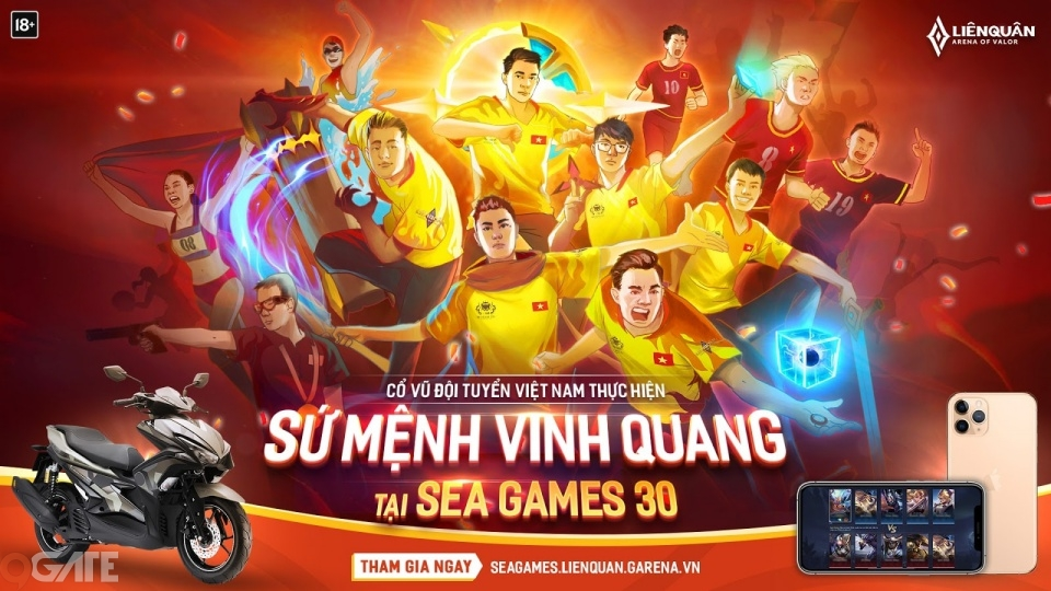 Đội tuyển Liên Quân Mobile Việt Nam ra quân tại Sea Games 30 từ 8h30 ngày 7/12