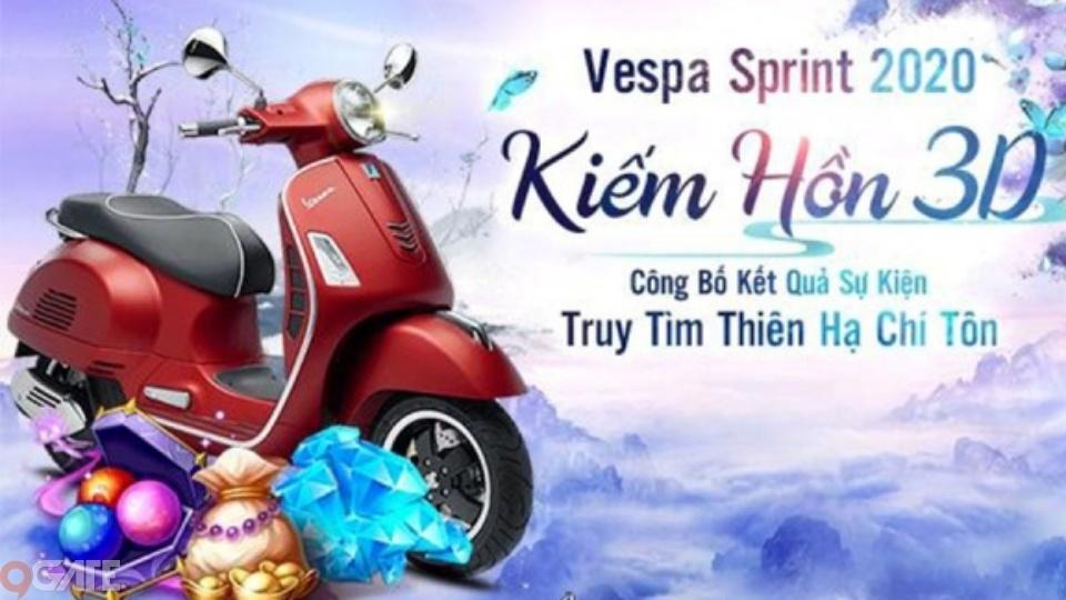 Kiếm Hồn 3D: Thiên Hạ Đệ Nhất - chủ nhân của xe máy Vespa Sprint chính thức lộ diện