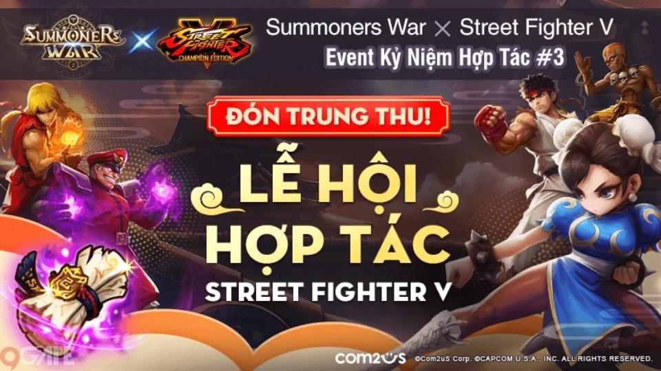Summoners War X Street Fighter V: Champion Edition - Tận hưởng chuỗi Event khủng cùng các Quái Thú Hợp Tác