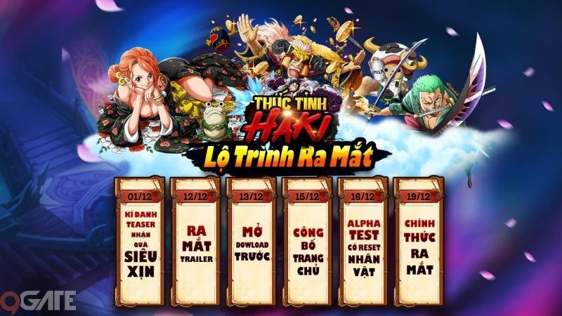 Game One Piece - Thức Tỉnh Haki công bố lộ trình ra mắt game thủ Việt