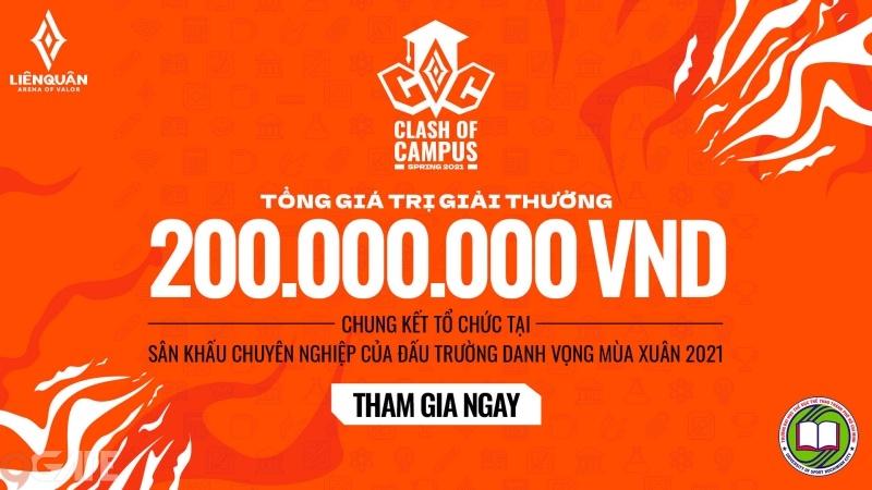 Chính thức mở đăng ký giải đấu sinh viên Clash Of Campus từ ngày 27/3 với tổng giải thưởng lên tới 200 triệu đồng