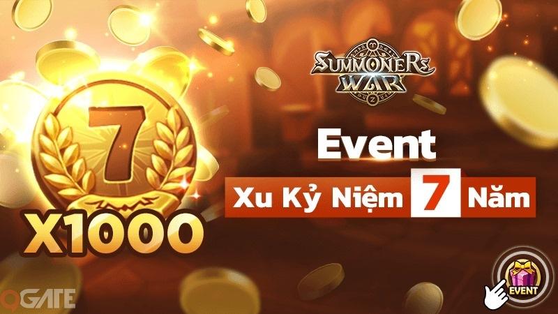 Summoners War tặng game thủ 1,000 Xu đặc biệt nhân dịp kỷ niệm 7 Năm ra mắt