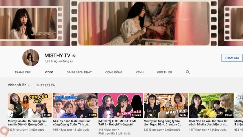 Kênh YouTube 6 triệu sub của MisThy hé lộ tình trạng