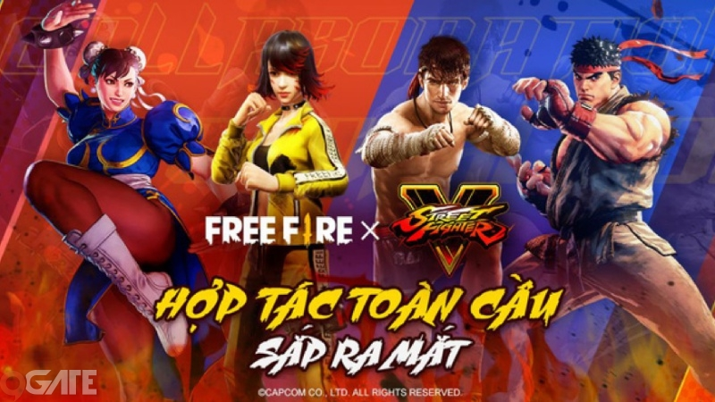 """Hai """"huyền thoại"""" Ryu và Chun-Li của Street Fighter xuất hiện trong Free Fire"""