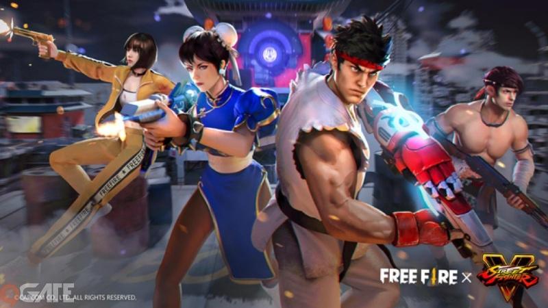 Người chơi Free Fire sẵn sàng tung chưởng trong màn hợp tác toàn cầu với Street Fighter V từ hôm nay
