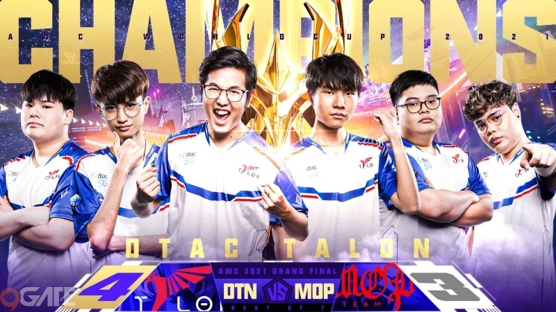 Đại diện Thái Lan Dtac Talon trở thành nhà vô địch Thế giới tại giải đấu Arena Of Valor (AWC) 2021