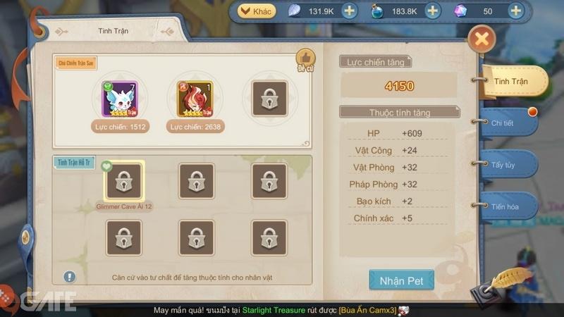 Cloud Song VNG: Gợi ý một số đội hình Pet tác chiến cho từng nhân vật