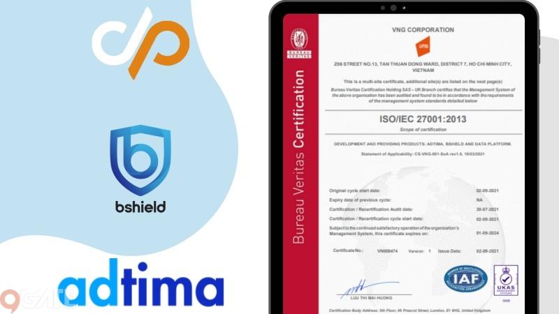 Hệ sinh thái sản phẩm của nhà phát hành VNG đạt chứng chỉ bảo mật ISO27001
