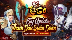 Tam Quốc GO tặng Giftcode khủng mừng Big Update phiên bản Tranh Bá Quân Đoàn