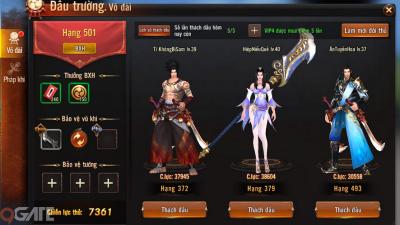Đao Kiếm Vô Song Mobile: Chuỗi hoạt động PK trong game
