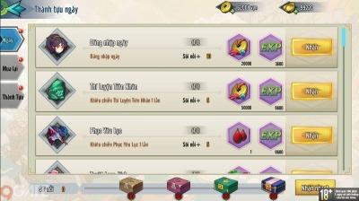 Thần Ma Mobile: Hệ thống thưởng và thành tựu hằng ngày