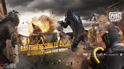 PUBG Mobile VN bản 0.13 chính thức ra mắt: Mode 4v4, event Godzilla, tăng cường chống Hack,...
