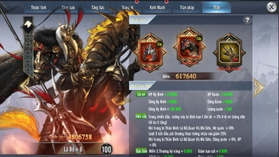 Tam Quốc Vương Giả: Tính năng update 3.0 Thần Binh