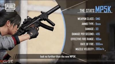 PUBG Mobile: Đây là mọi thông tin bạn cần biết về khẩu MP5-K và