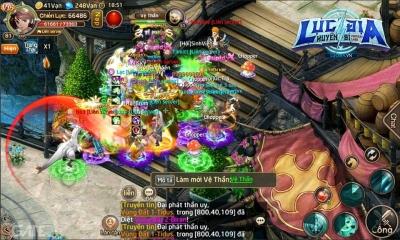 Lục Địa Huyền Bí: Game Mobile 3 server PK ngàn người cùng lúc
