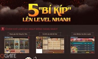 Tiếu Hiệp Giang Hồ: 5 bí kíp tăng cấp siêu nhanh từ level 1 đến level 40