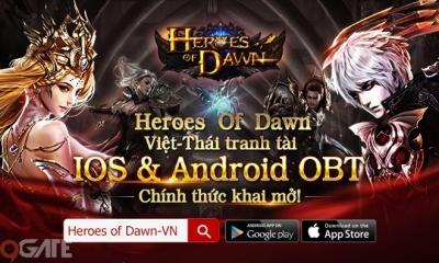 Heroes Of Dawn chính thức Open Beta ở Việt Nam và Thái Lan, tặng Giftcode