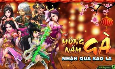 Đón xuân mới, game Việt Mộng Võ Lâm tặng người chơi Ngũ Đại Bảo Vật
