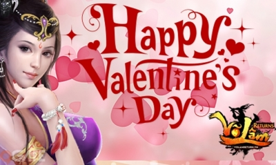 Hưởng ứng mùa Valentine, Võ Lâm Returns tặng free Thời trang Bạch Vũ và GiftCode trên toàn server