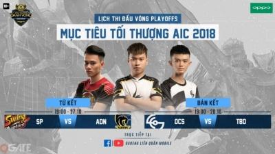 Công bố 3 đội tuyển Liên Quân Việt Nam tham dự AIC 2018