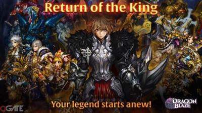 """""""Đức Vua Trở Về"""" – bản cập nhật hoành tráng của Dragon Blaze nhân dịp kỷ niệm 4 năm ra mắt"""