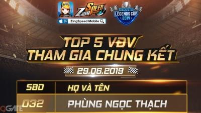 ZingSpeed Legends Cup 2019 tiến vào chung kết với 5 tay đua