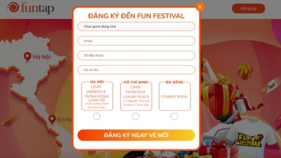 NPH Funtap chính thức thông báo mở đăng ký lễ hội Funtap Festival Hà Nội